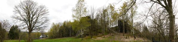 Blick von Falkenstein auf den Lochstein