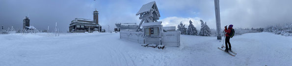 am Gipfel des Fichtelberg 1214 m / Sachsen, (Foto: L. Hille)