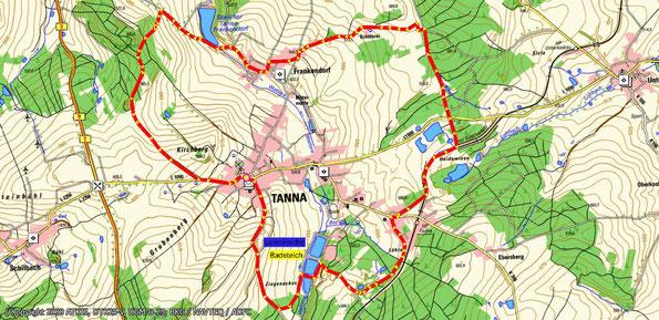Wanderkarte zur Wanderung Rund um Tanna