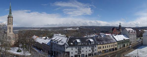 Falkenstein nach winterlichem April Gewitter