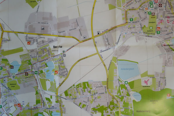 Karte zur Wanderung zur Bergkirche nach Beucha