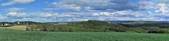 Blick aus Richtung Talbach zur Göltzschtalbrücke, zukünftiges Unesco Weltkulturerbe (Foto: W. Roth)