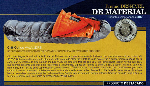 Test - Valandre Down Sleeping Bag - Chill Out 850