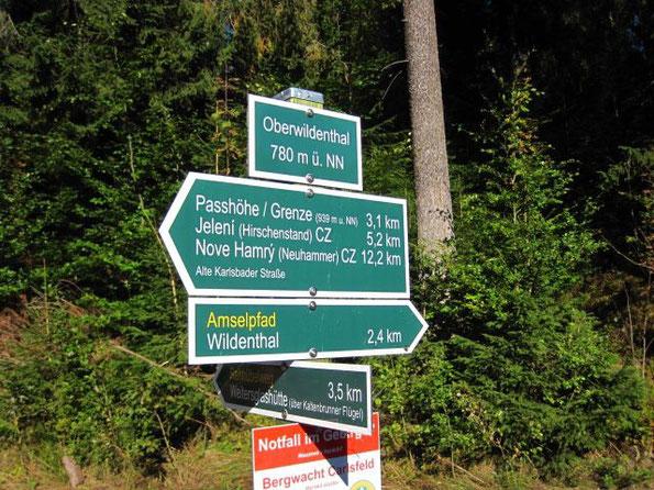 grenzüberschreitende Wanderung von Oberwildenthal