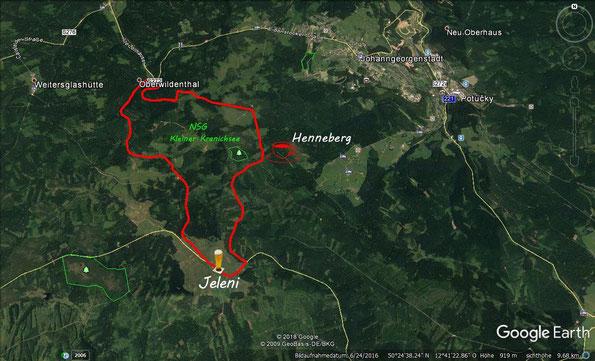 """Übersichtskarte - Wanderung """"Im Erzgebirge"""""""