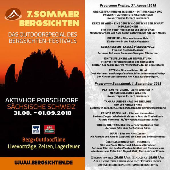 7. Sommer-Bergsichten in Porschdorf - Programm