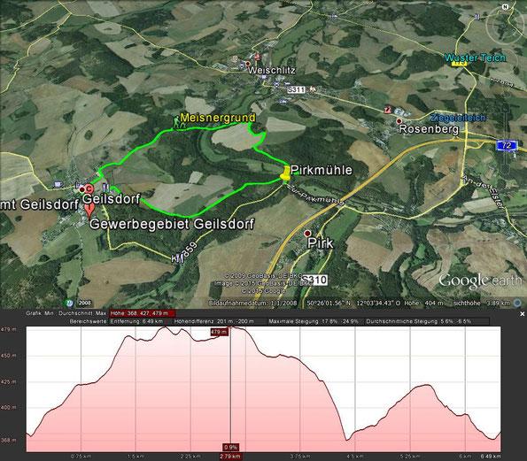 Wanderung zwischen Pirkmühle und Geilsdorf