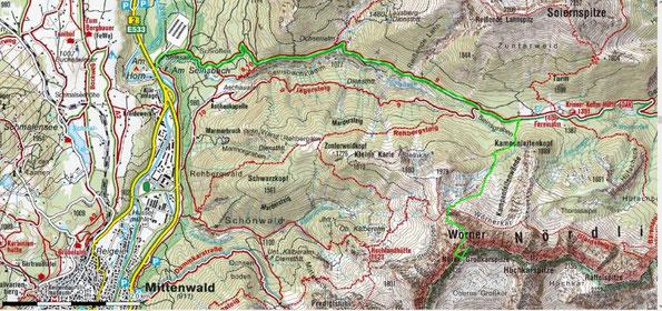 """Bergtour zum """"Wörner"""" -  2474 m,  im Karwendelgebirge"""