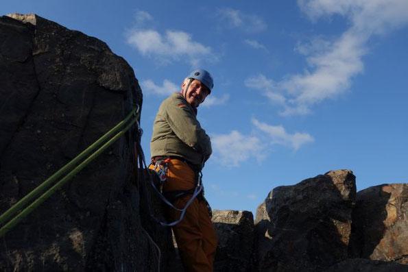 Klettern am herbstlichen Lochstein, 07.10.2021