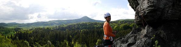 Klettern am Falkenstein/Zittauer Gebirge