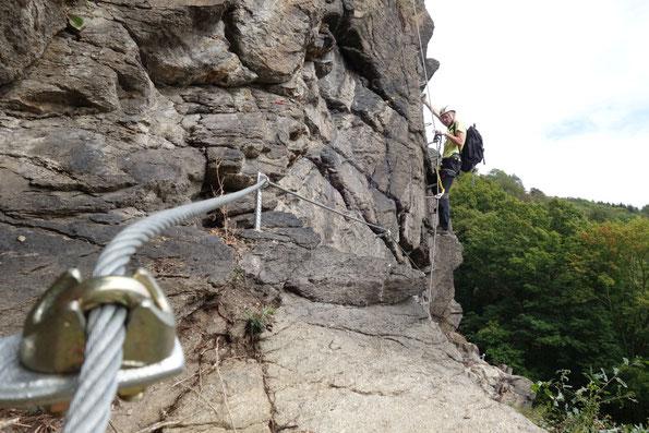 Klettersteig Wolkensteiner Hag und Wolfspfad in Wolkenstein