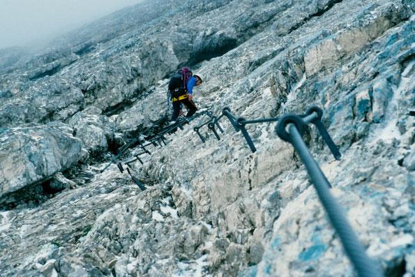 Anstieg zur Alpspitzferrata