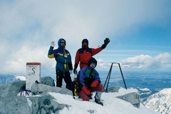 winterliches Gipfelglück auf dem Rysy in der Hohen Tatra