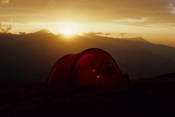 Sonnenuntergang in der Cordillera Blanca (Peru)