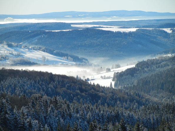 Skitour im winterlichen Vogtland am 14.02.2021