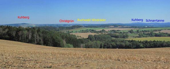 Panorama Blick aufs Vogtland