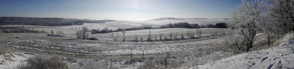Blick vom Schwartenberg im Erzgebirge