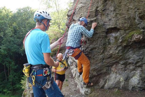 Klettern am Kappelstein im Göltzschtal, 11.08.2021