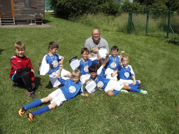 Das F-Jugend Team des SC Fortuna Oberschefflenz