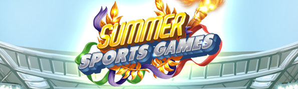 Banner Summer Sports Games