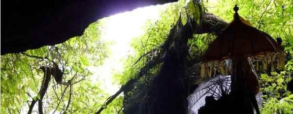 Blick aus der heiligen Höhle