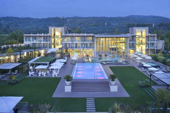Modernes Wellnesshotel mit viel Leistung und in Laufnähe zum romantischen Bardolino