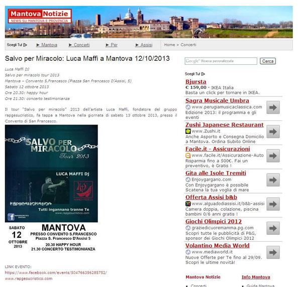clicca sull'immagine per vedere il sito di Mantova Notizie