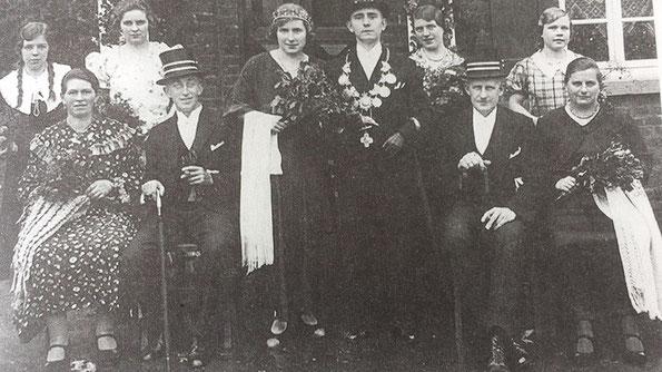 König Andreas Tillmann, Minister Josef Moers und Josef Bommes