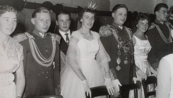 1959: Resi & Alex Schmitz, Friedhelm Effern, Käthe & Hans Danners, Cilli & Josef Weffers
