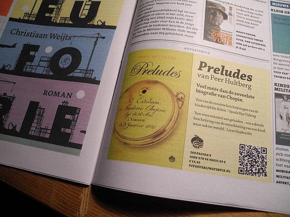 advertentie Preludes in Boekenkrant