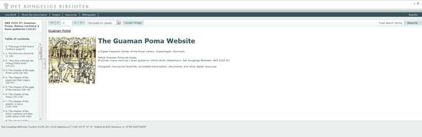 Klik op de afb. voor de Guaman Poma Website