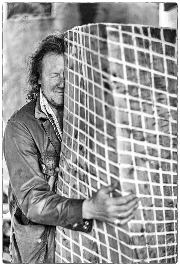Portrait Klaus Berschens, Bildhauer und Maler