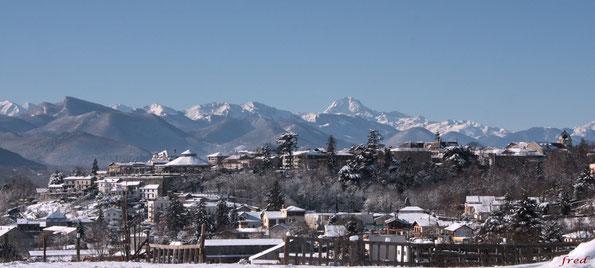 Panorama de Montréjeau en hiver... Crédit photo : Fred Andreuceti