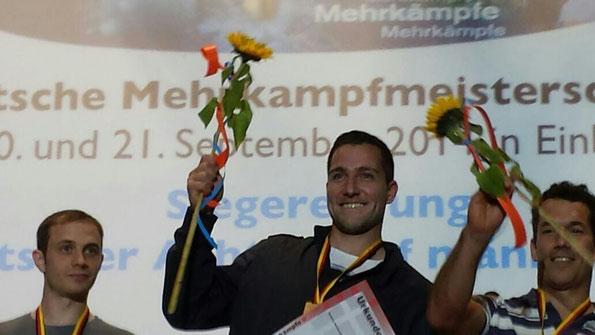 André Becker freut sich über seinen ersten deutschen Meistertitel