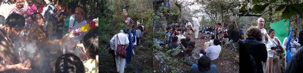 "Don Lauro «flor y canto», Chiapas 2016; Pascal K'in führt in denselben Zeremonien den ""Drachenpfad""."