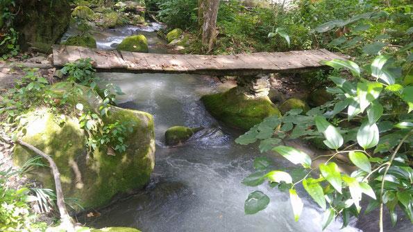 Brückenbauen zwischen Kulturen / Construir puentes entre culturas --- Naturheilpark SEMUK Valle San Lorenzo in Mexiko / Recinto natural SEMUK Valle San Lorenzo, Puebla