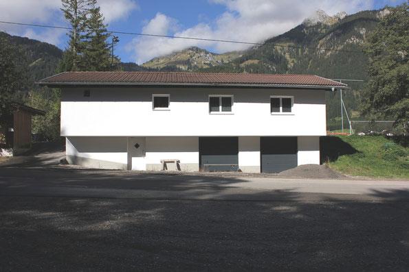 Das Sportheim noch während den Renovierungsarbeiten