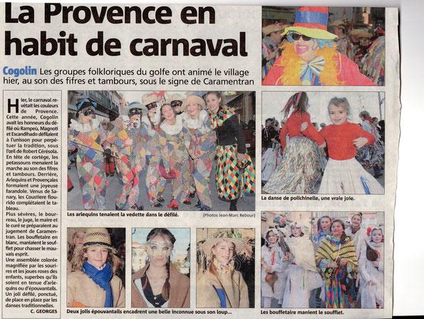 Var matin du 10 février 2013 : carnaval
