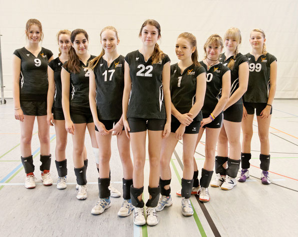 von links: Kathrin, Selin, Christina, Lea, Clara, Lara, Rachel, Anita, Jessi (es fehlt Sina)