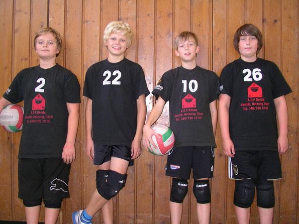 Von links Per, Henri, Henrik und Michael. Es fehlen Tom, Kjell und Kristian.