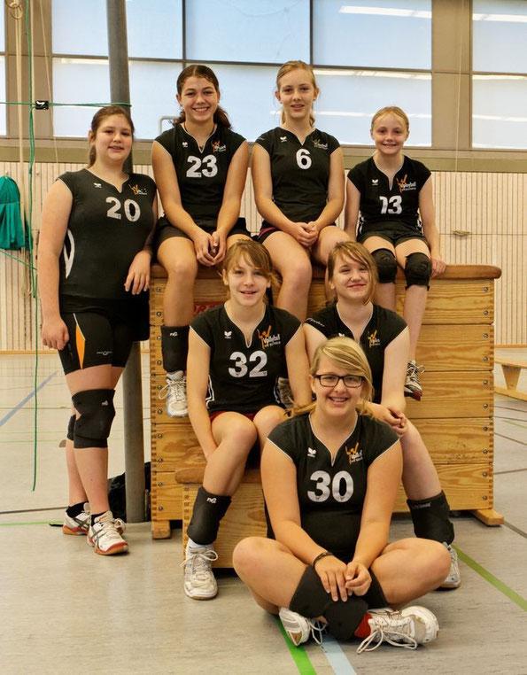Von links: Becky, Jette, Kathi, Amory, Pia, Inken, und Jojo. Es fehlen Valeria, Lisa und Lisann.