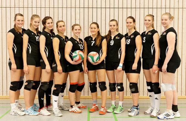 Von links: Lena, Rina, Svenja, Esther, Julika, Charlene, Anna, Sarah, Mille und Sophie. Es fehlen Gisi, Katja, Milena und Karo.