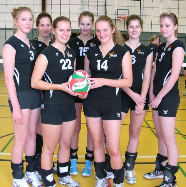 Milena, Svenja, Nina, Rina, Ines, Anna und Fenja. Bezirksklasse Saison 2011/12