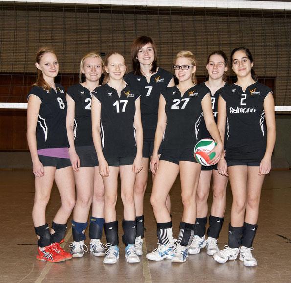 Milena, Krissi, Lea, Teresa, Marie, Sina, Christina    (es fehlen Karo und Dani) Kreisliga Saison 2011/12