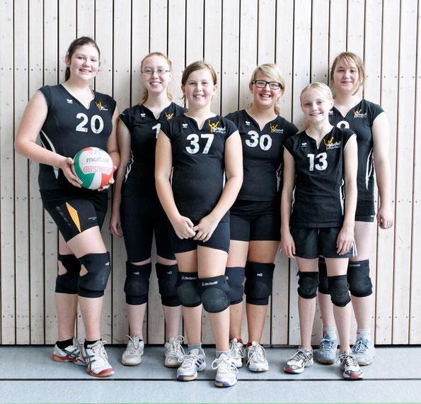 Von links: Becky,Valeria, Talisa, Pia, Jojo, Inken. Es fehlen Jette, Lisann, Kathi und Janice.