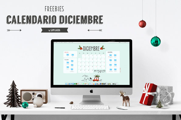Freebies de calendario: DICIEMBRE by Sami Garra