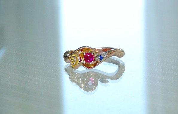 ルビーの手作り婚約指輪