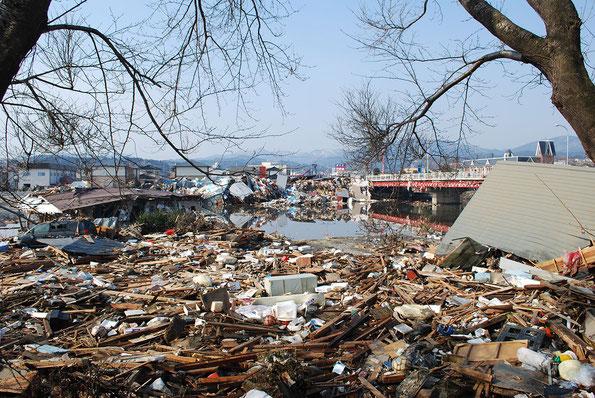 津波による被害(写真:気仙沼市)