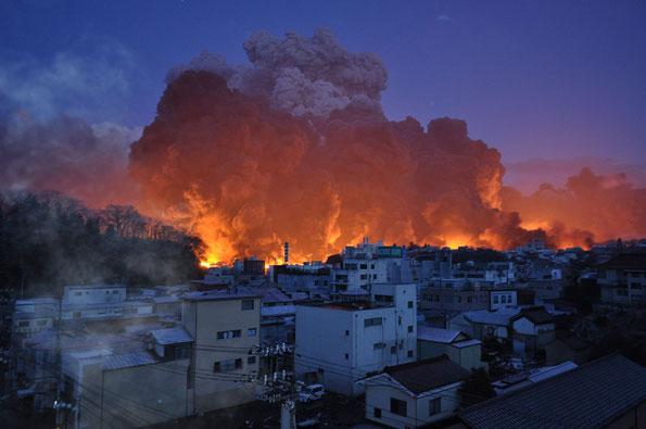 火災による被害(写真:気仙沼市)