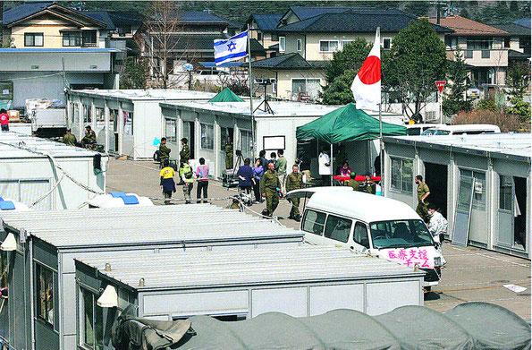 医療機器を備えたプレハブ6棟(写真:河北新報社)